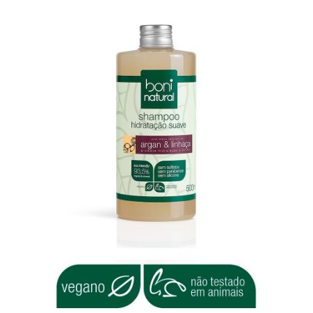 BONI NATURAL SHAMPOO SUAVE ARGAN E LINHAÇA 500ml
