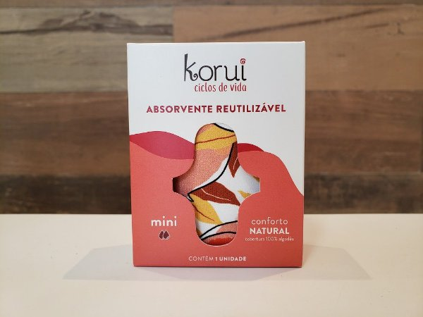 KORUI ABSORVENTE DE PANO MINI - CONFORTO NATURAL (ESTAMPA SORTIDA)