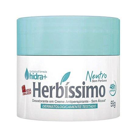 HERBÍSSIMO DESODORANTE CREME NEUTRO 55g