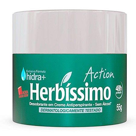 HERBÍSSIMO DESODORANTE CREME ACTION 55g