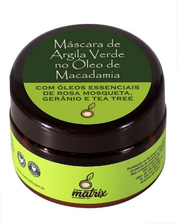 GREEN MATRIX - MÁSCARA DE ARGILA VERDE DILUÍDA COM ÓLEO DE MACADÂMIA 60ml