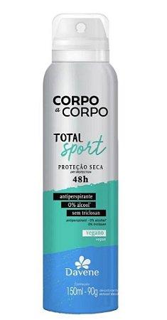 DAVENE DESODORANTE ANTIPERSPIRANTE AEROSSOL CORPO A CORPO SPORT 150ml