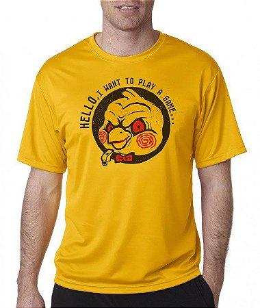 Camiseta - Canarinho Pistola - Hello, I Want to Play a Game - Cor Amarela