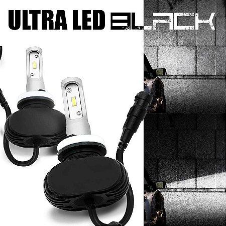 Kit Lampada Ultra Led Black 2d 9000 Lumens Carro 12v 24v