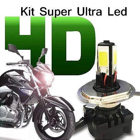 Kit Super Ultra Led H4 4d Moto Lampada 6000k