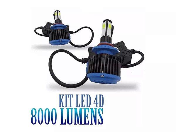 Kit Led 4d 8000 Lumens Carro 12v 24v Canbus Canceller 6000k