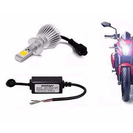 Kit Super Led Moto Lâmpada H4 6000k