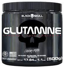 Glutamine - Caveira Preta - BLACK SKULL