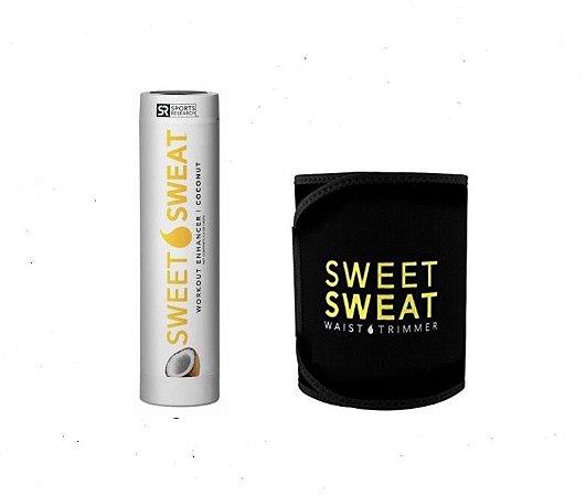 Sweet Sweat Coconut Bastão 182g + Cinta Neoprene  - Frete Economico