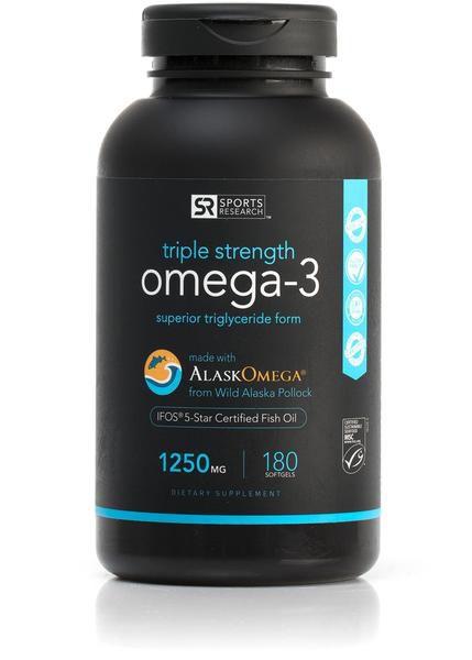 Omega 3 Fish Oil AlaskaOmega® (1250mg) 180 softgels - Frete Economico