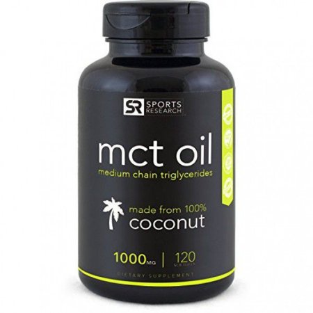 MCT OIL1000mg 120 Softgels SPORTS Research FRETE GRÁTIS