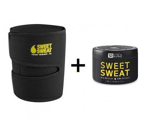 Sweet Sweat Gel 6.5oz + Cinta para as coxas  - Frete Econômico