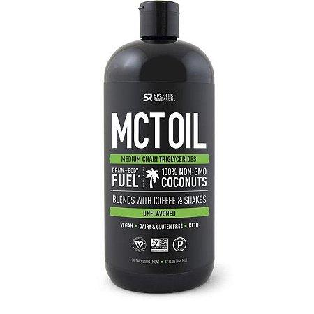 MCT Oil 946ml SPORTS Research FRETE GRÁTIS