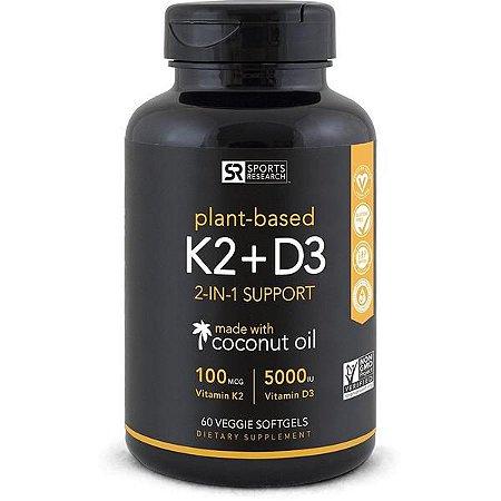 Vitamina K2 + D3 60 veggie softgels