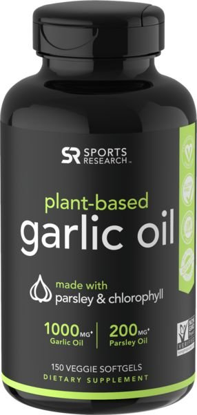 Garlic Oil 150 Caps SPORTS Research FRETE GRÁTIS