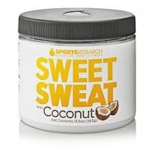 Sweet Sweat com Extra Virgin Organic Coconut Oil. 'XL' Jar (382g) - Pronta Entrega.