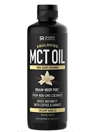Emulsified MCT Oil 473ml sabor: creamy vanilla SPORTS Research