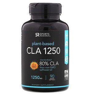 CLA 1250mg 80% 90 veggie Softgels SPORTS Research