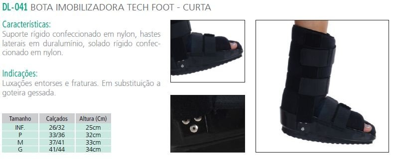 BOTA IMOBILIZADORA TECH FOOT - CURTA
