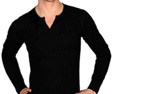 134800229 Camiseta Gola V Tesoura Masculina Manga Longa - Moda Masculina ...