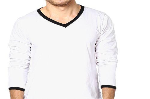 3b0bce1773 Camiseta Gola V Esportiva Masculina Manga Longa - AT Camisetas.com.br