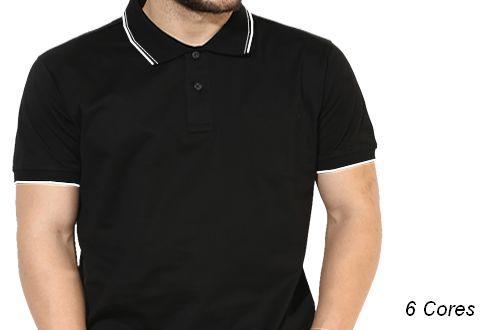 Camiseta Gola Polo Modelo 2 Masculina Manga Curta