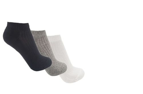 KIT com 3 Pares de Meias Cano Invisível Masculina