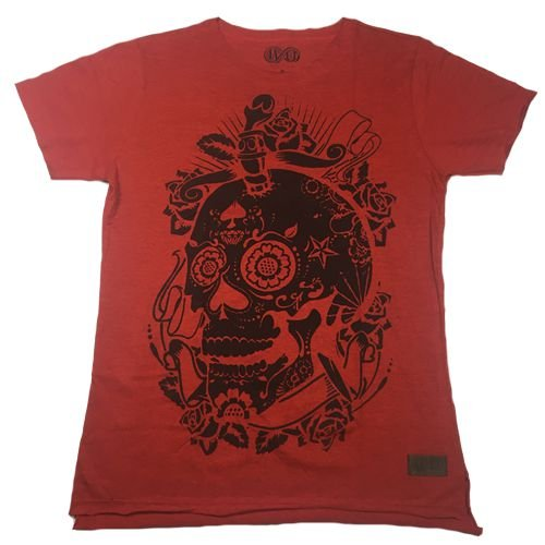 Camiseta Gola Básica Estampada - Modelo 23 - Longline Reta