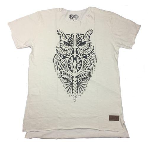 Camiseta Gola Básica Estampada - Modelo 25 - Long Line Reta