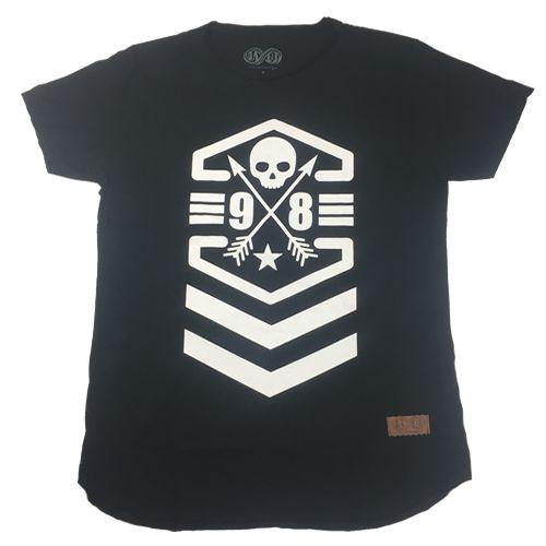 Camiseta Gola Básica Estampada - Modelo 15 - Long Line Redonda