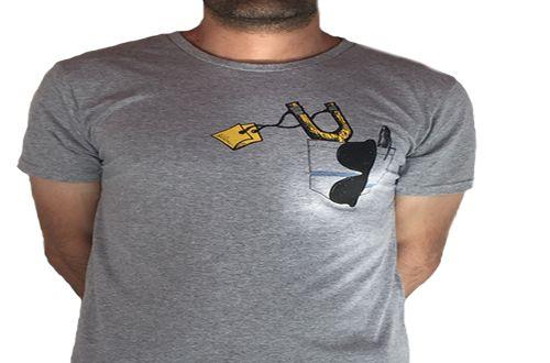 Camiseta Gola Básica Estampada - Modelo 50