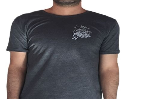 Camiseta Gola Básica Estampada - Modelo 36