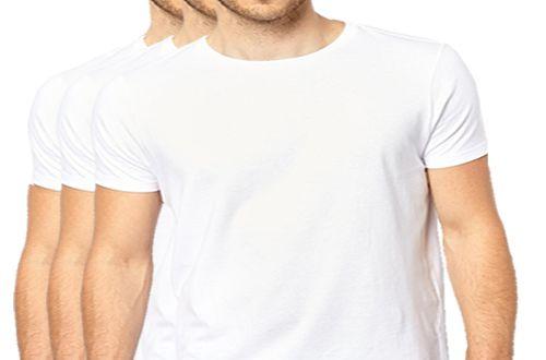 KIT com 3 Camisetas Gola Básica Masculina Manga Curta