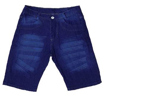 Bermuda Jeans Masculina Slim Azul