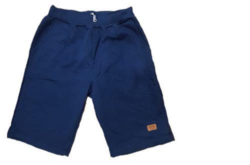 Bermuda Moletom Masculina Slim Azul Marinho
