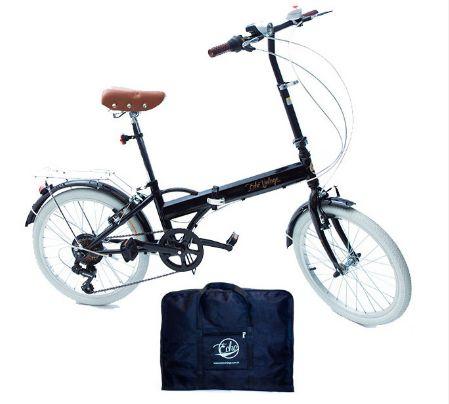 Bicicleta Dobrável Fênix Black Completa com Bolsa Para Transporte