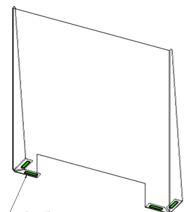 TopShield – Separadores de Mesas / Balcão Modelo A