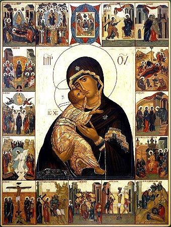 Maria Mãe da Ternura e o Mistérios do Rosário - tom natural