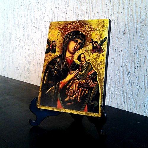 Ícone Nossa Senhora do Perpétuo Socorro Rústico