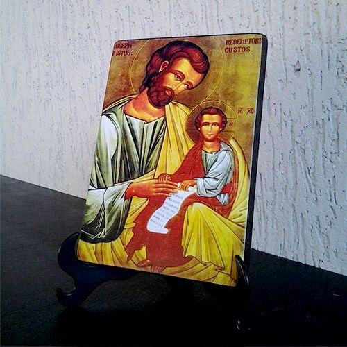 Ícone São José com Menino Jesus