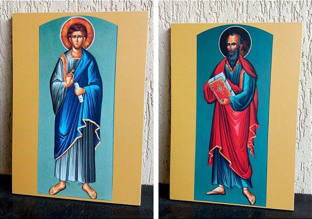 Os 12 Apóstolos - conjunto com doze ícones
