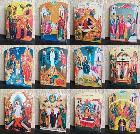 As 12 Festas Litúrgicas - conjunto com doze ícones