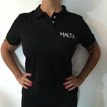 Camiseta Polo Preta - Feminina