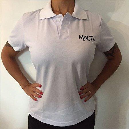 Camiseta Polo Branca - Feminina