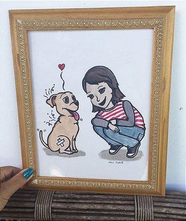 Ilustração Darci & Mamis