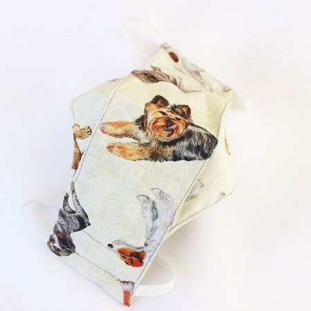 Máscara Algodão Cachorros Realistas 3D