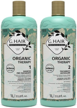 Kit Shampoo e Tratamento Anti-Volume G. Hair 2x1 Litro