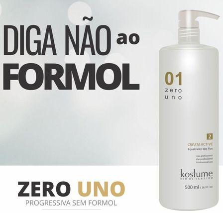Zero Uno Cream Active Escova Progressiva Zero Formol
