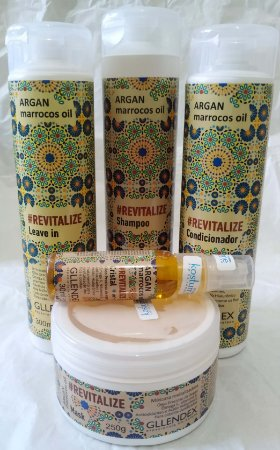 Argan Marrocos Oil Revitalize Gllendex【Kit 5 Produtos】