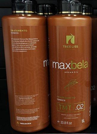 Kit Tratamento Max Bela Progressiva 2x1L Tree Liss Argan Oil